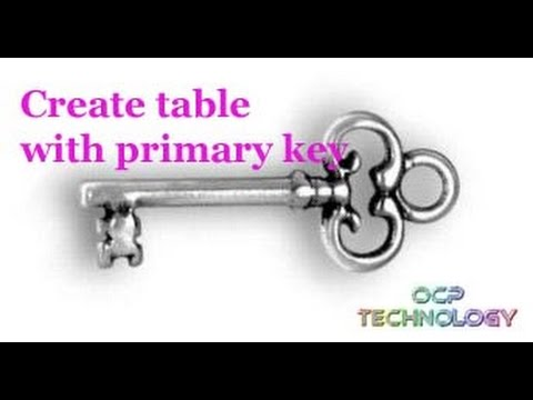 Create Table with Primary Key in SQL in Hindi.