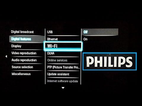 How to Enable WiFi / DLNA / Ethernet / USB on Philips TV with Service Menu