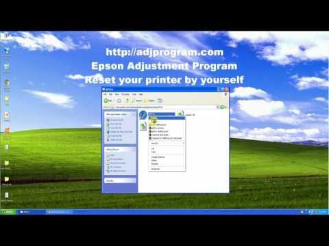 Reset Epson XP510 by Adjustment Program