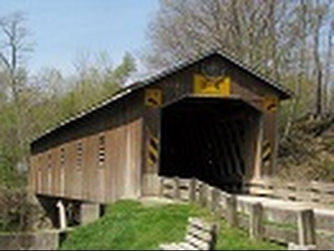 Creek Road Covered Bridge in Ashtabula County Ohio 6-16-15