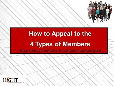 How to Appeal to the 4 Types of Members