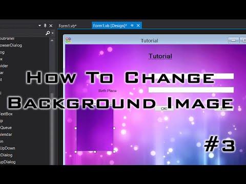Visual Studio Tutorial #3 - Change Background Image & Add Picture Box