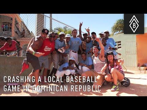 Crashing a Local Baseball Game in Dominican Republic