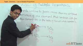 Law of Multiple Proportions | Chemistry | Class 11 | IIT JEE Main + Advanced | NEET | askIITians