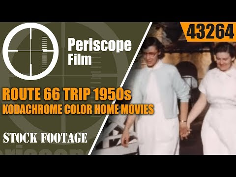ROUTE 66 TRIP 1950s KODACHROME COLOR HOME MOVIES NEW MEXICO & TEXAS 43264