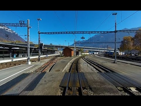 Drivers Eye View - Bernese Oberland Railway - Interlaken to Lauterbrunnen
