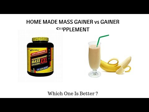 Home Made Mass Gainer vs Mass Gainer Supplement | WHICH GAIN MUSCLE AND WEIGHT FASTER