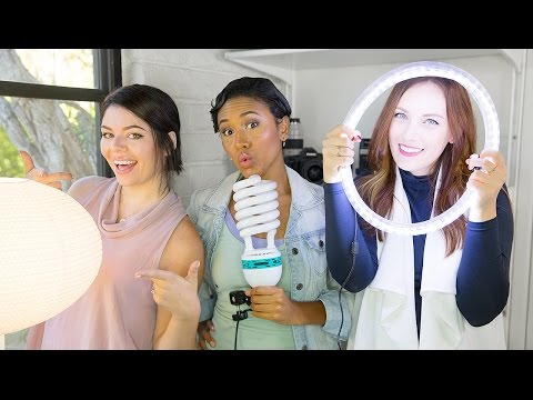 Cheap & DIY Video Lighting Collab with The Sorry Girls! | TECH TALK