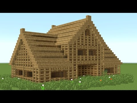 MINECRAFT: How to build 6-room wooden house