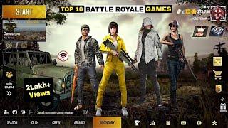Top 10 Best Alternative Battle Royale Games Like PUBG & FreeFire | Online and Offline