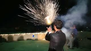 Firing \u0026 Fire Work at Wedding of Raja WaQas \u0026 Raja Adnan-part-2