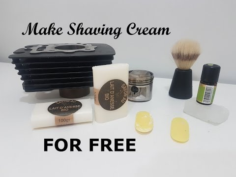 How To Make Your Own Natural Shaving Soap/Cream. For FREE