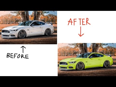 HOW TO CHANGE COLOR OF WHEELS/CAR IN PHOTOSHOP!! (ONLY 3 MIN) (EASY!!)