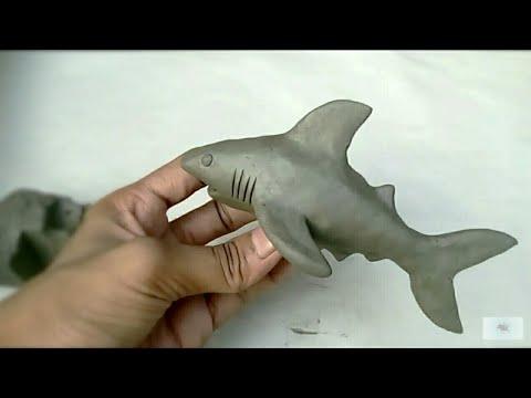 how to make a clay shark