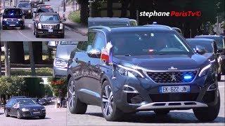 Trump Vs Macron Vs Netanyahu convoy  in Paris