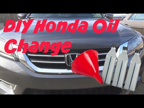 Doing the 2nd oil change on the 2015 Honda Accord LX