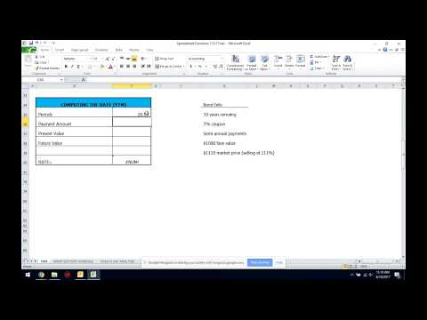 Calculating Yield to Maturity (YTM) using Excel in Under 3 Minutes