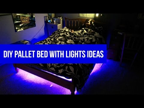 DIY Pallet bed with lights ideas