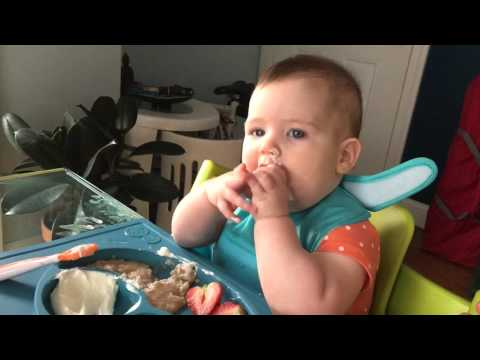 Baby led weaning - strawberries