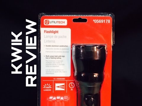 Review Lowes Utilitech 1000 Lumen Led Flashlight 0569178 Awesome Kwik Reviews
