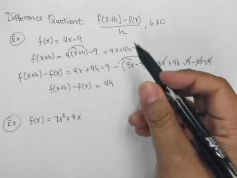 Compute and simplify the difference quotient.