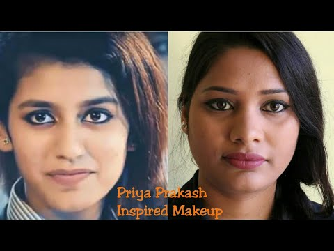 Priya prakash inspired Makeup|Most popular girl|Simple daily college makeup tutorial| sapnacreations