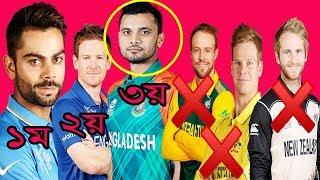 ওয়ানডে র্যাংকিং তিন নম্বরে উঠে এসেছে বাংলাদেশ দেখে নিন র্যাংকিং | Daily Reporter | bd cricket news