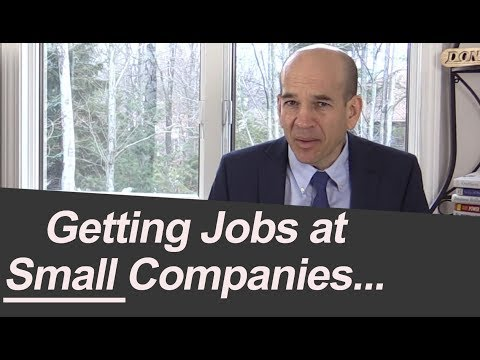 Getting Jobs at Small Companies (when you came from a BIG one)