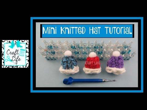 Craft Life ~ Mini Knitted Hat Tutorial ~ DIY Pins Hair Elastics & Clips