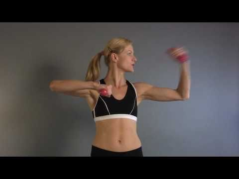 Make a Fist, Throw a Punch, and Tone Arms with small weight