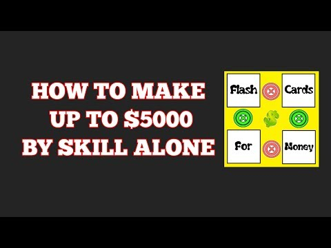 HOW TO MAKE UP TO $5000 BY SKILL ALONE! (AND A $50 GIVEAWAY!!!)