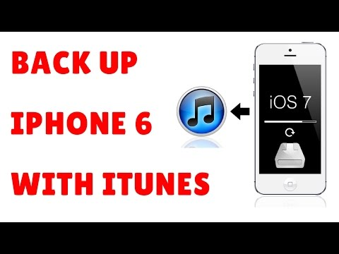 How to Backup iPhone 6 with iTunes to PC