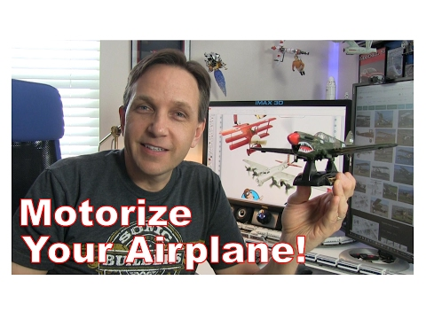 How to Install a Motorized Propeller in a Toy Plane