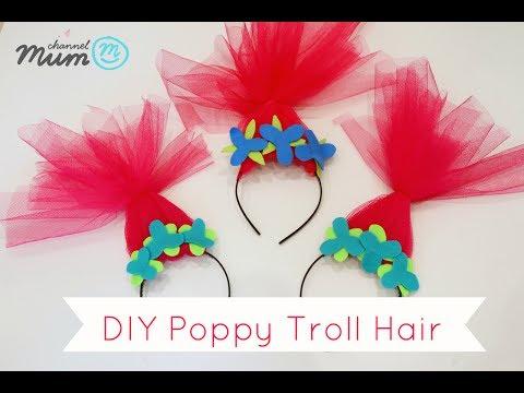 DIY Poppy Troll Hair