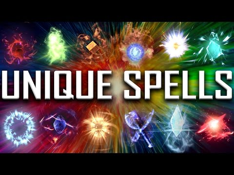 Skyrim - All Rare & Unique Spells
