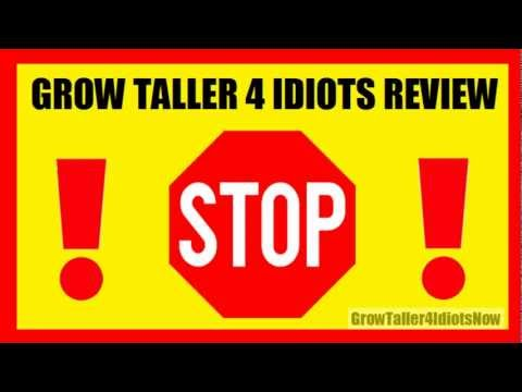 Grow Taller 4 Idiots Review - Does It Really Work?