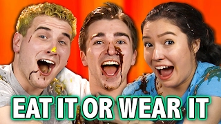 EAT IT OR WEAR IT CHALLENGE (ft. Teens React Cast) - NEW SHOW!