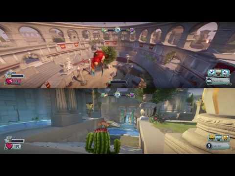 Plants vs Zombies GW2 split screen fun w/ sebastian