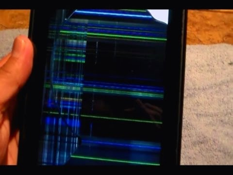 How to fix vertical and horizontal LINES on Kindle Fire Screen, Fix frozen screen appearance.