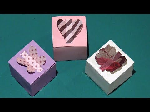 How to Make a Gift Box - DIY Paper Box (Heart Box, Butterfly, Flower...)