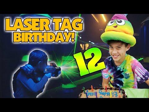 LASER TAG BIRTHDAY!!! Evan's 12th Birthday Party!