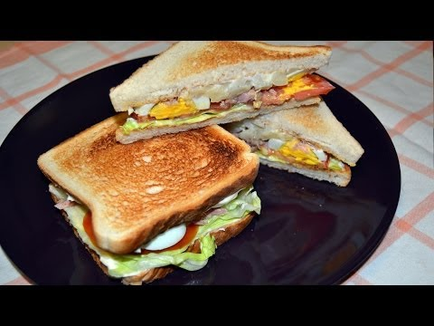 Tuna & Egg Salad Toasted Sandwich - Quick & Easy Sandwich Recipe