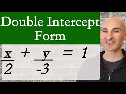 Double Intercept Equation of a Line