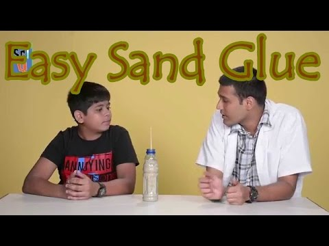 Easy to Make: Sand Glue!! Kids Science Experiments