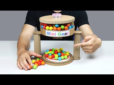Wow! Amazing DIY Gumball Automatic Machine from Cardboard