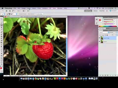 How to Make One Object Color in Black and White Photo - Photoshop CS5 OSX.mov