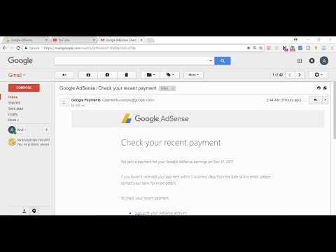 I got my first payment in Adsense