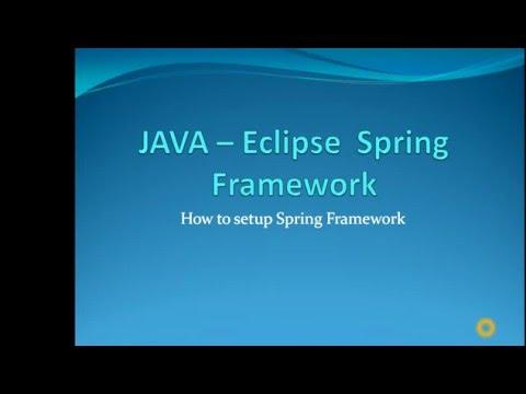Spring Framework Setup for Eclipse