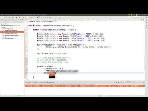 Java 8 streams map filter reduce combined tutorial