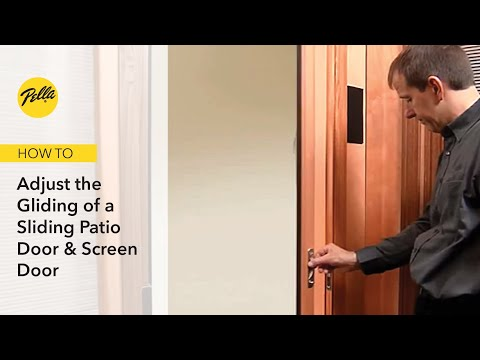 Sliding Patio Door & Screen Door Gliding Adjustment